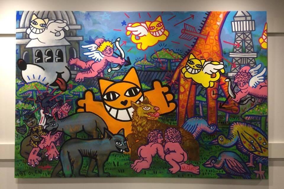 Thoma Vuille : un graffeur au chat malicieux