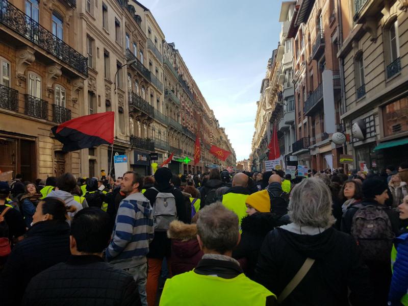 Acte XIII des Gilets Jaunes à Toulouse : un photographe blessé