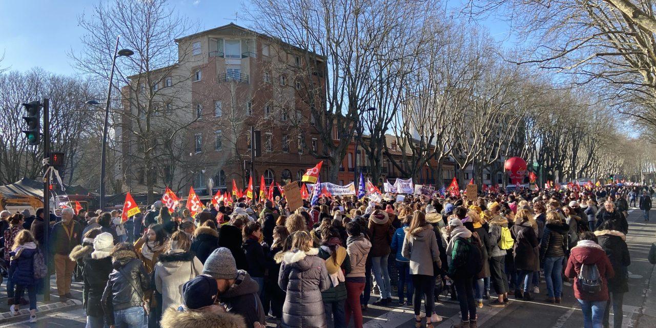 Retraites : près de 5 000 manifestants à Toulouse