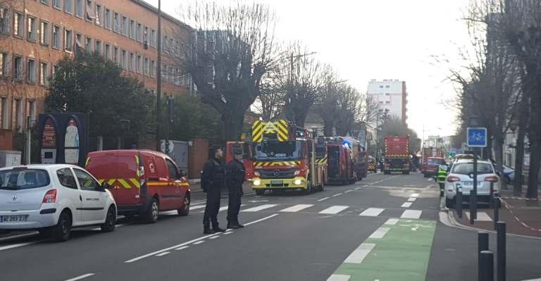 Les pompiers de Toulouse avenue de Muret