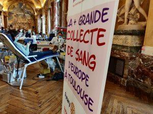 La grande collecte de sang « Mon Sang Pour Les Autres » a débuté aujourd'hui au Capitole de Toulouse. Crédit : Bary Isaac