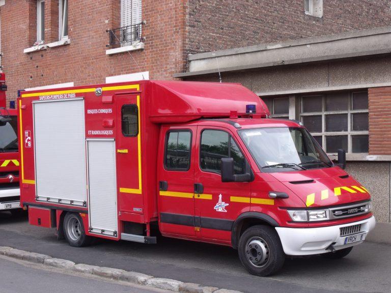 Une vingtaine de pompiers étaient présents sur place. Crédit: CC BY-SA 3. de Arnaud Lambert https://creativecommons.org/licenses/by-sa/3.0/deed.en