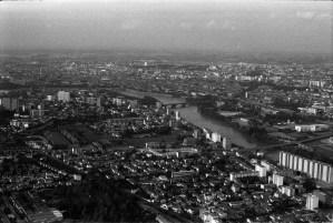 Vue aérienne de Toulouse en 1977