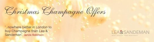 Christmas Champagne Banner - Jancis Robinson - Lea and Sandeman Independent Wine Merchants