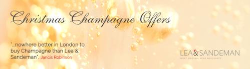 Lea & Sandeman Christmas Champagne Offers