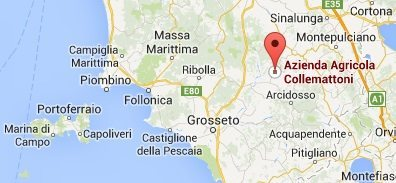 Collemattoni Brunello Map