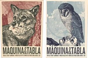 Maquina e Tabla label pair