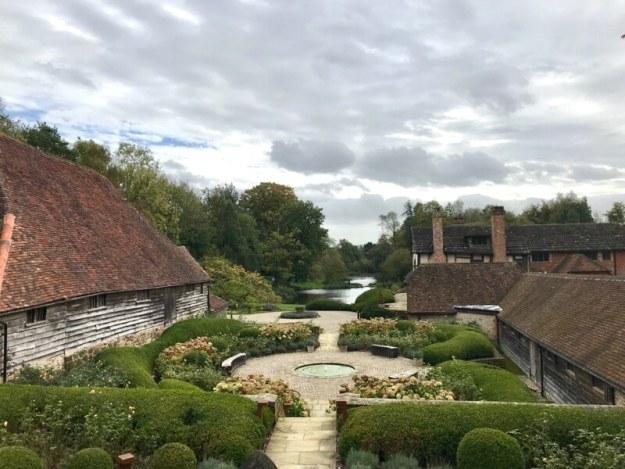 medieval barn pond old manor nyetimber