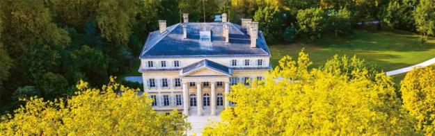 Chateau Margaux aerial view