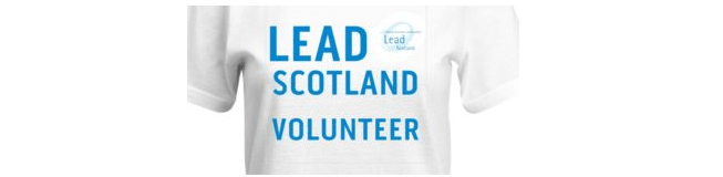 Picture of a tshirt saying lead scotland volunteer