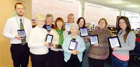 Group of learners with their iPads