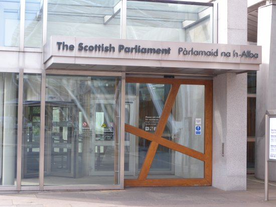 picutre of door to use on the night at scottish parliament