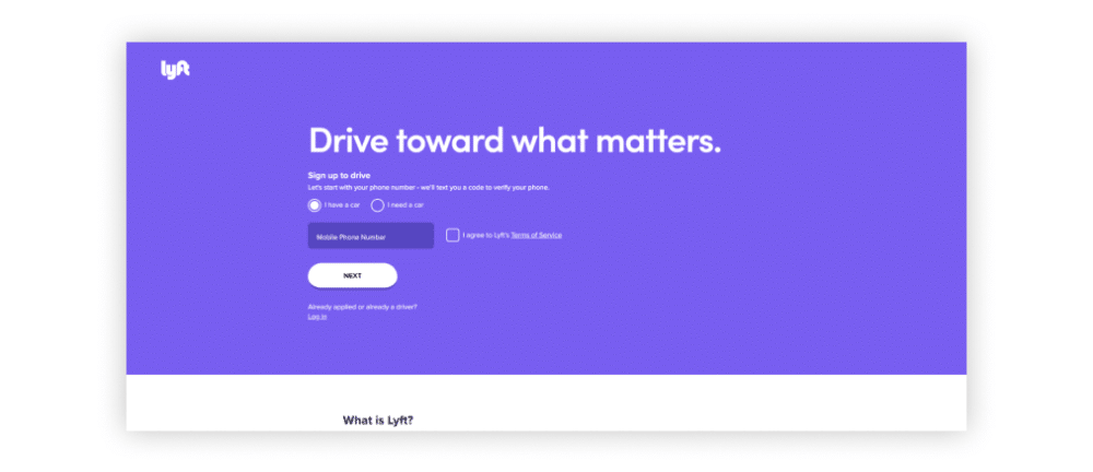 An example of a great lead generation landing page that has all the important info like contact form and call to action at the top
