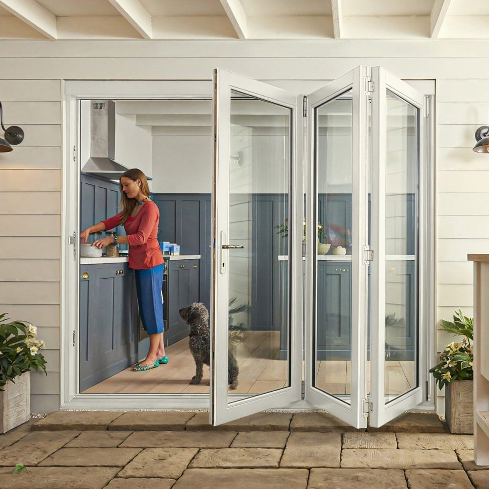curated by jeld wen external white fully finished bedgebury 2l sliding folding patio door with double glazed clear glass bgywsf