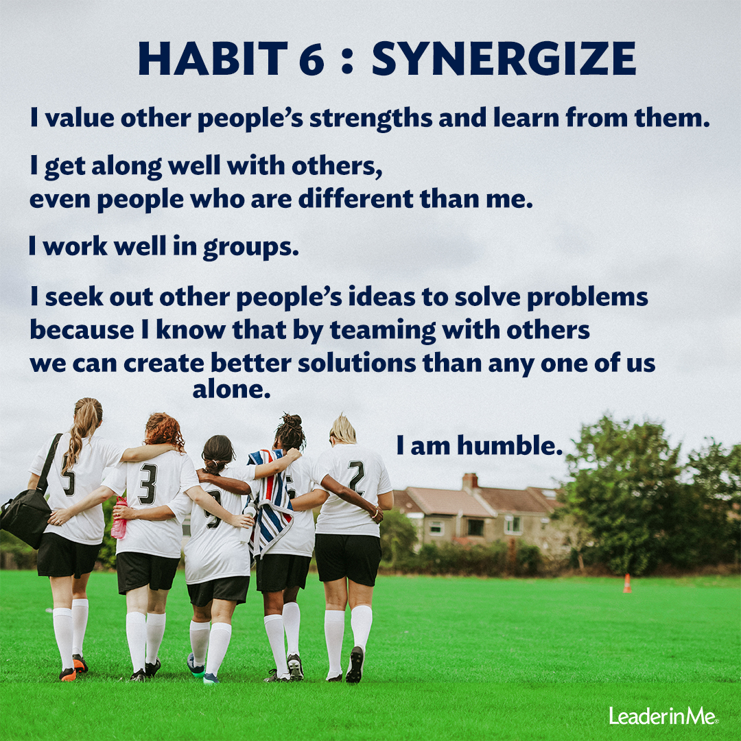 Synergy Saturdays Practicing Habit 6 With The Family