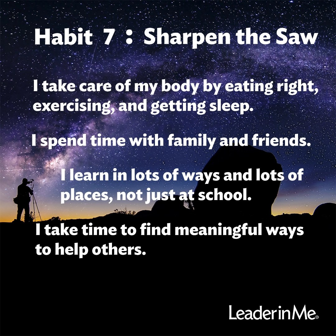 Habit 7 Why It S Important To Remember To Sharpen The Saw