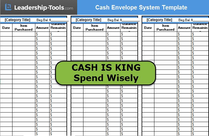 Download Cash Envelope System Template