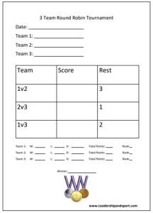 Tournament Template 3 three Team Round Robin Tournament Sports 3 three team Competition