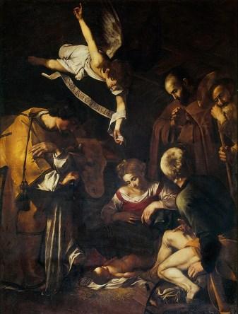 800px-Caravaggio-Nativity(1600)