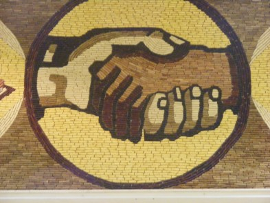 A Corn Mural in the Corn Palace in Mitchell South Dakota