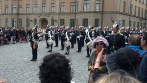 The Swedish Royal Band in front of the palace, Stockholm, Sweden