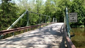 Bridge crosses the Raritan River, South Branch, NJ 2016.