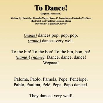 A Bailar Translation Page