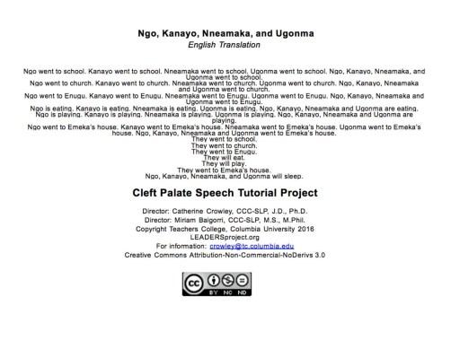 Ngo, Kanayo, Nneamaka, na Ugonna Translation