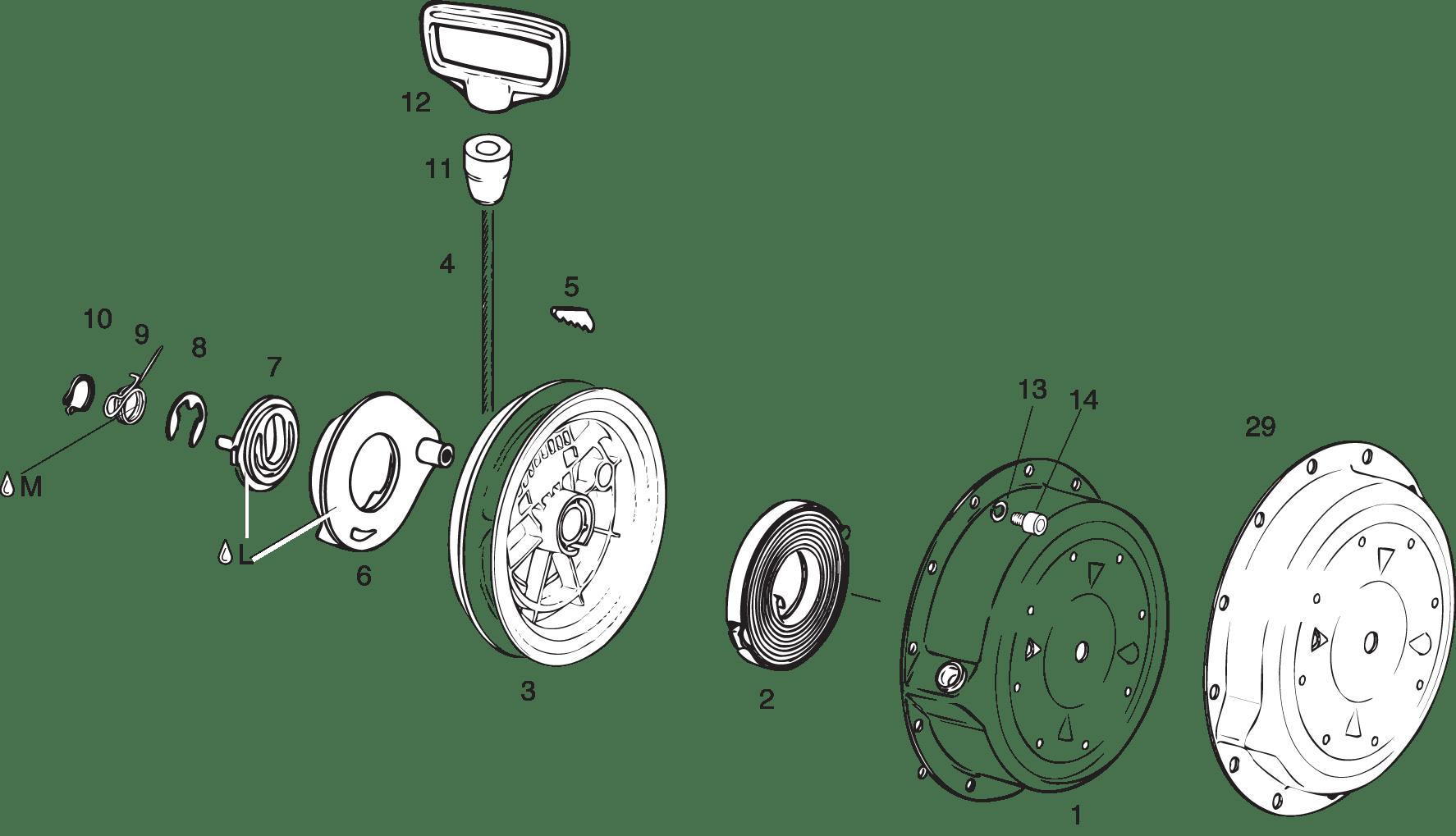 Rewind Starter For Rotax 447 Ul 503 Ul 582 Ul Mod 90