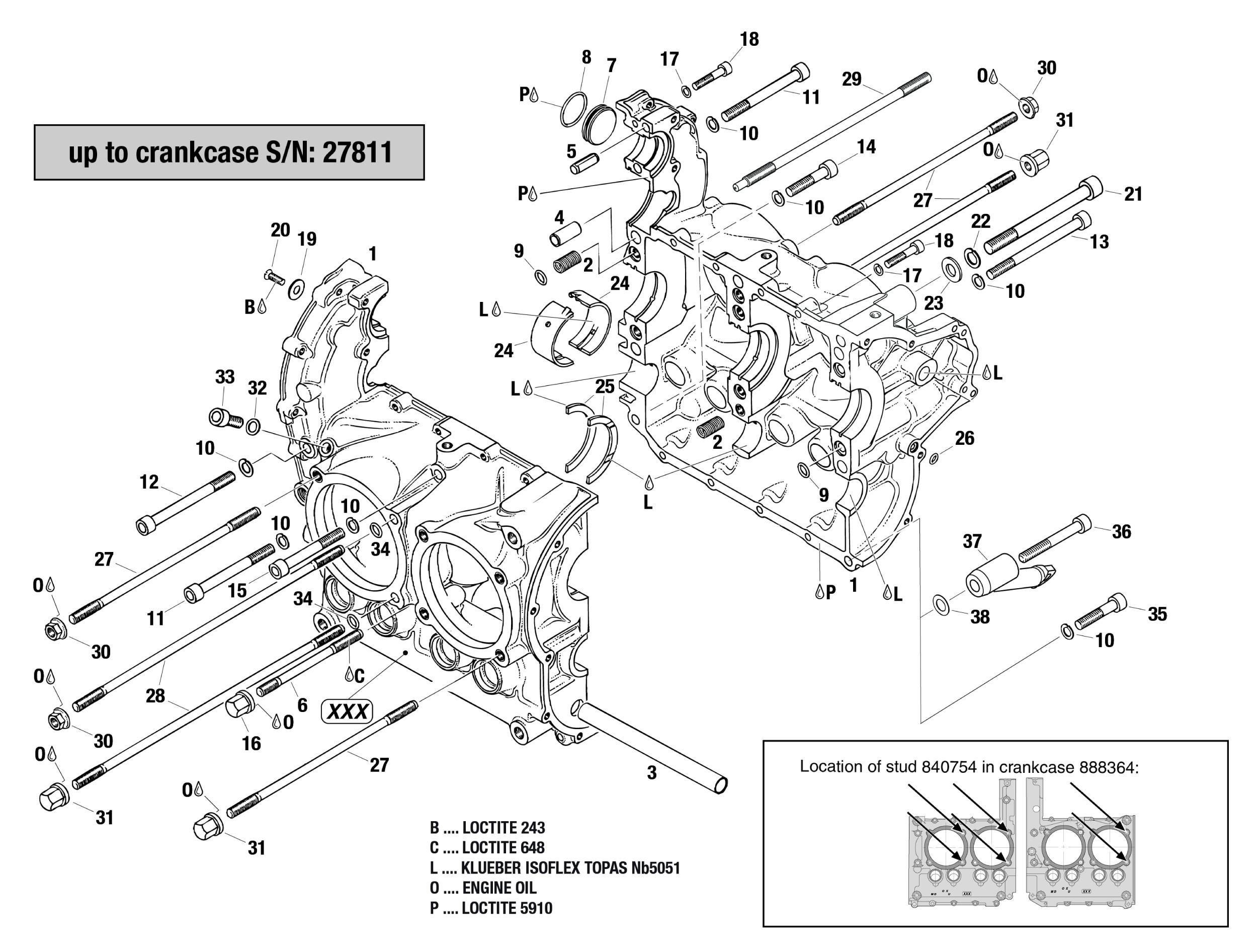 912 Amp 914 Crankcase Up To S N