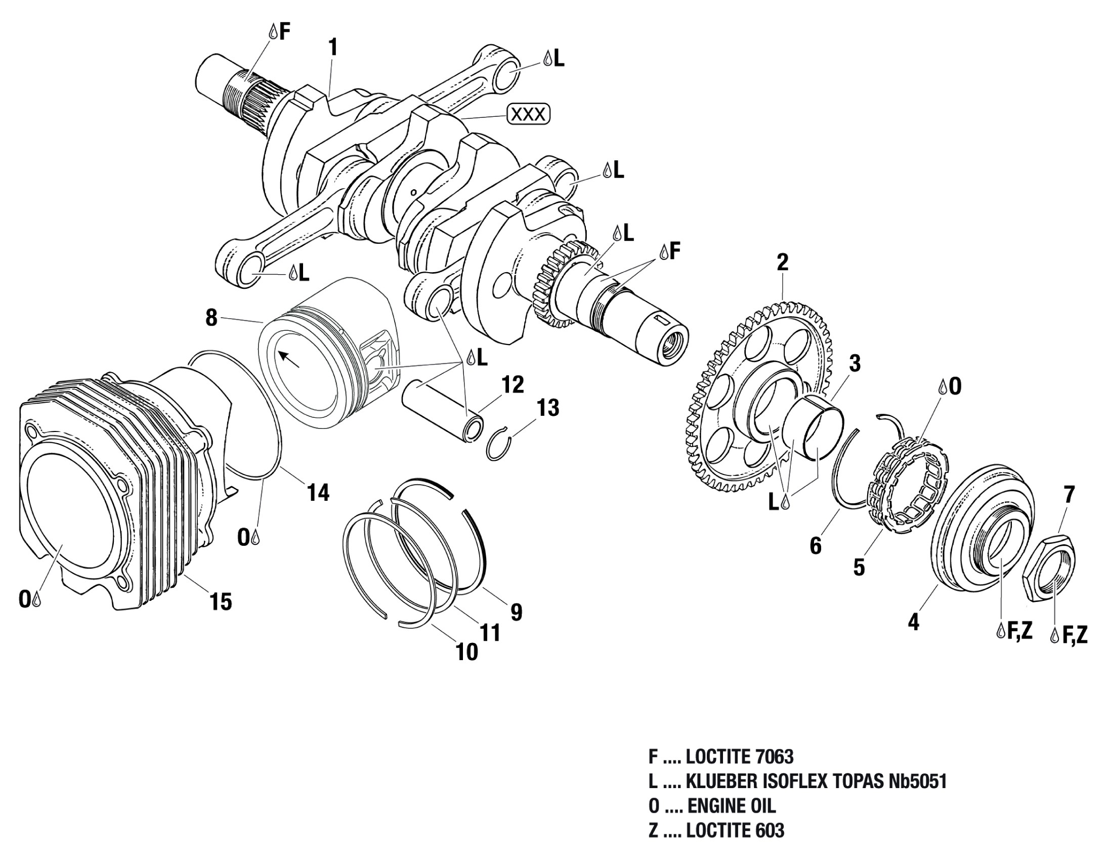 912 Amp 914 Crankshaft Piston Cylinder Sprag Clutch