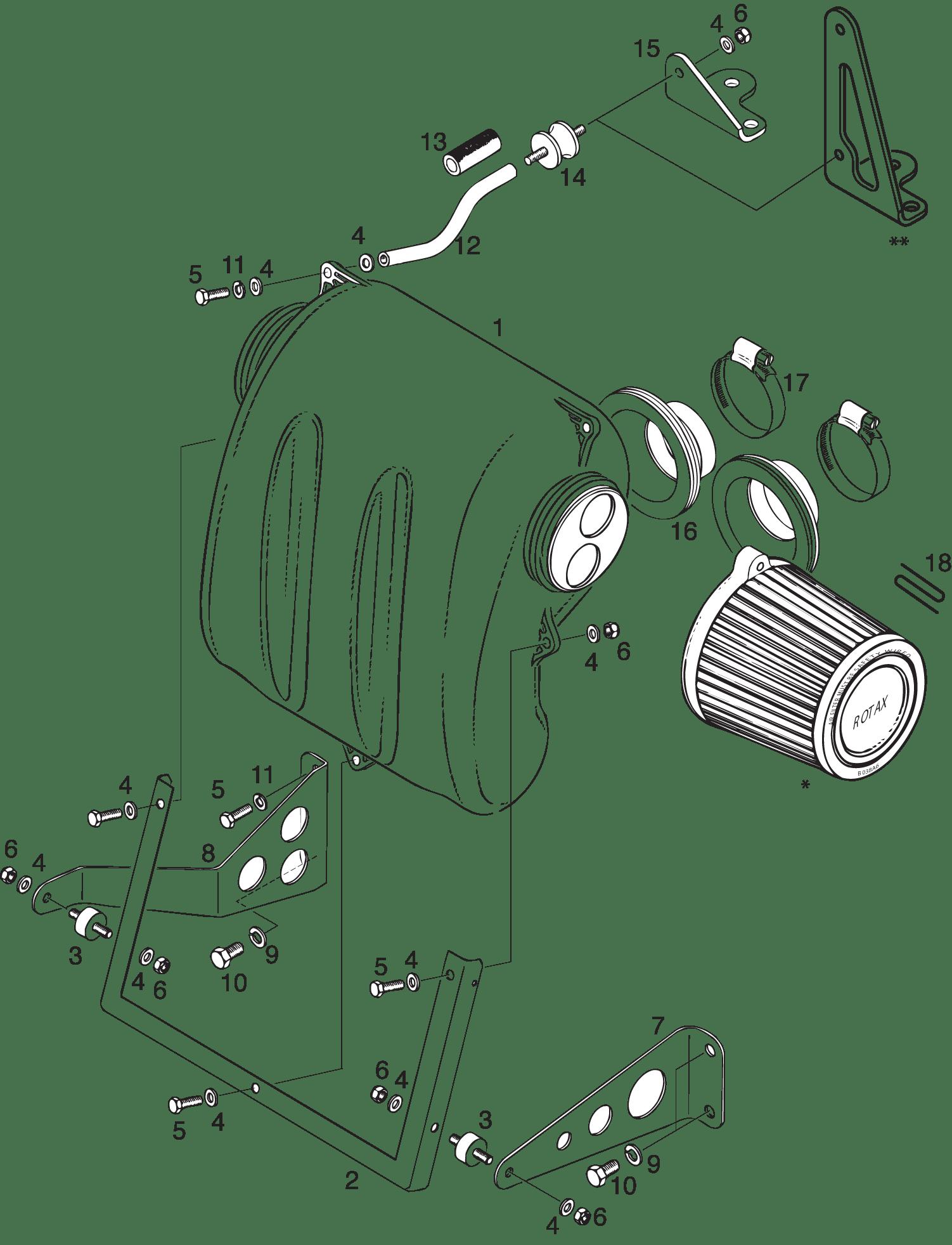 Intake Silencer For 582 Ul Mod 99