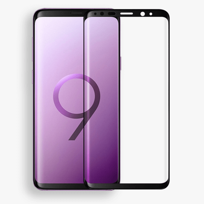 3D Curved Tempered Glass Screen Protector for Samsung S9 Plus S9