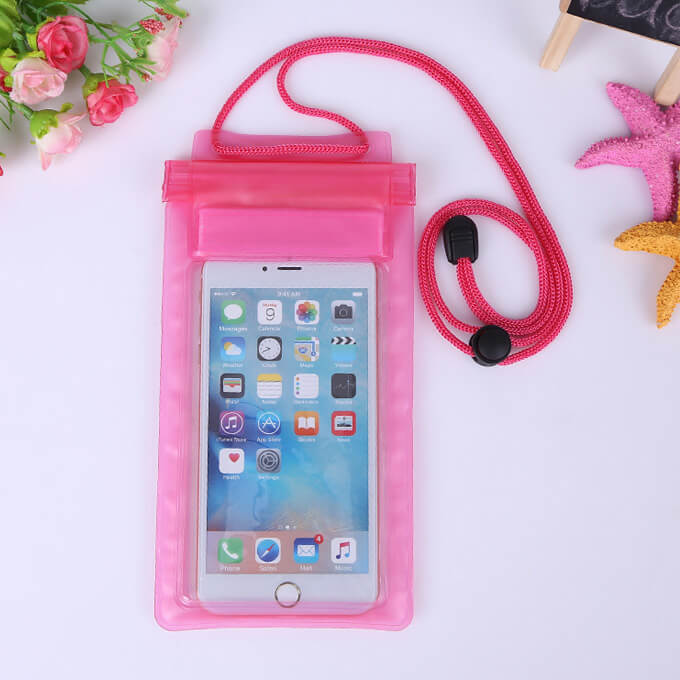 Universal 6inch Cheap Price PVC Zipper Fold Mobile Waterproof Case for iPhone 8 Plus XS Max