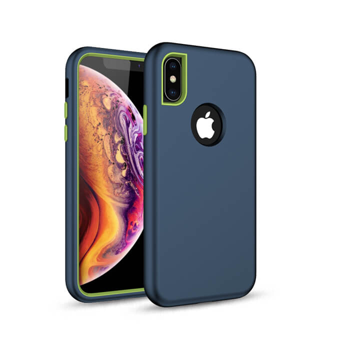 2020  Free Sample 3 in 1 Shockproof Soft Silicone Phone Case Cover for iPhone XS Max