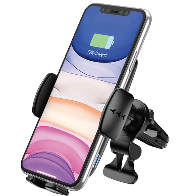 360 Adjustable 15W Scented for Car Mount FOD Fast Qi Wireless Phone Car Charger with Voice Reminder