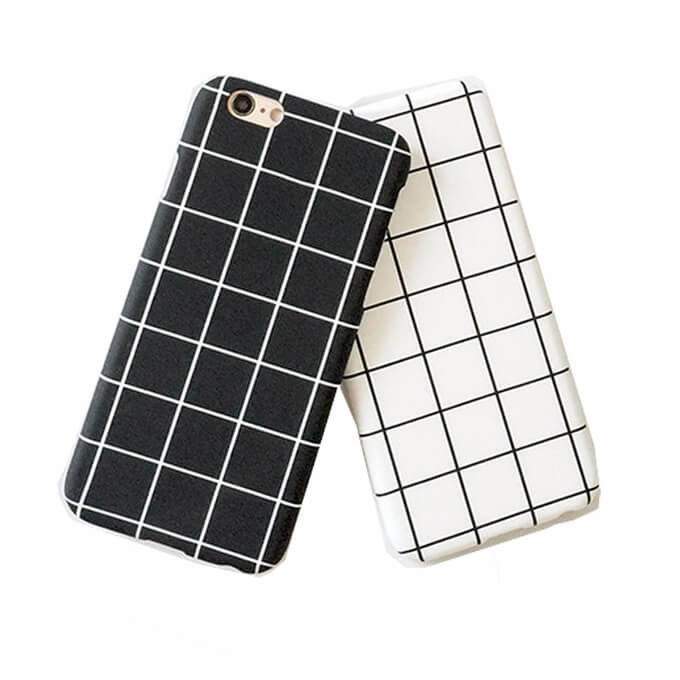 2020 High-Quality PC Lattice Plastic Smart Phone Case for Apple iPhone 6s iPhone 7