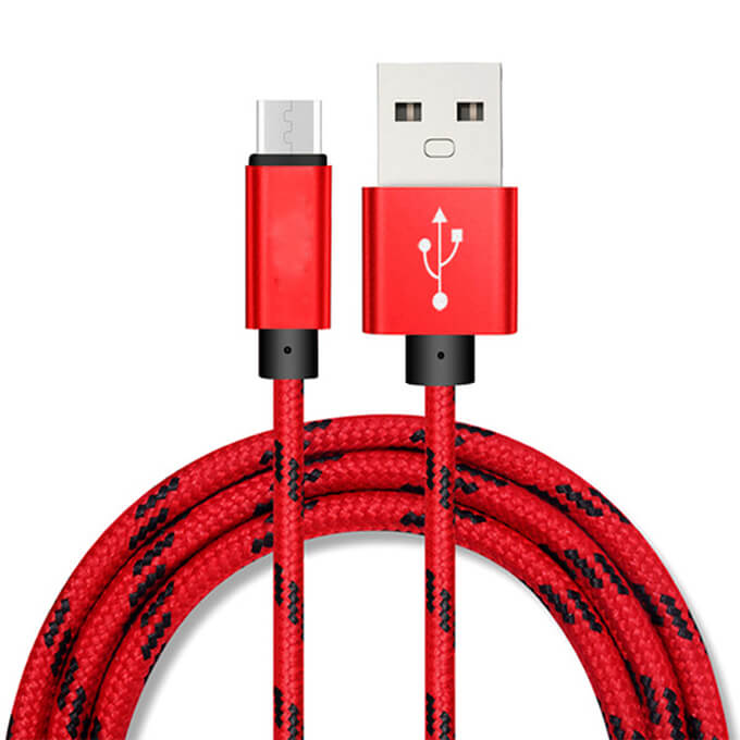 1m Mobile Phone Fast Charging Nylon Braided Micro USB Data Cable
