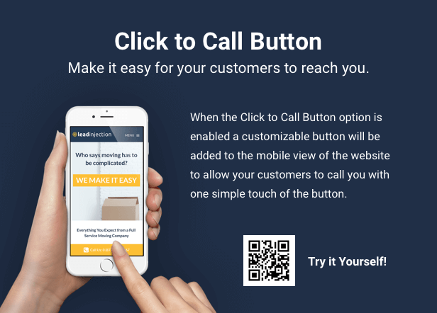 Leadinjection Click to Call Button for Mobile Devices
