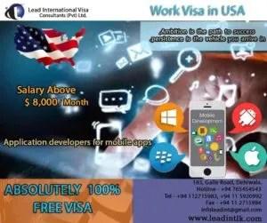work visa usa srilanka