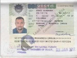 Scengan visa abroad visitor