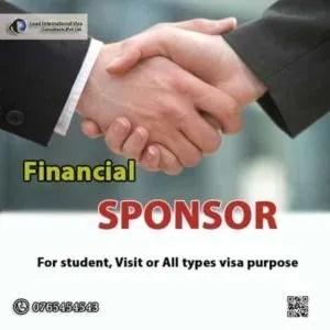 Financial Sponsor For Student all type Visa