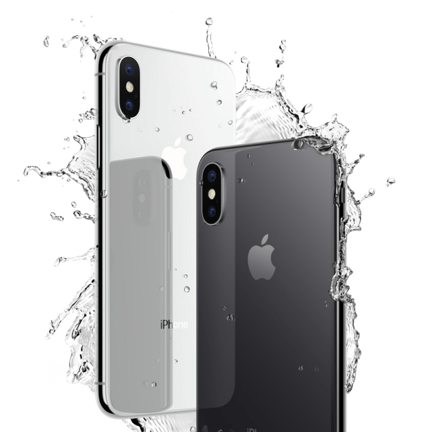 The iPhone X is water resistant.