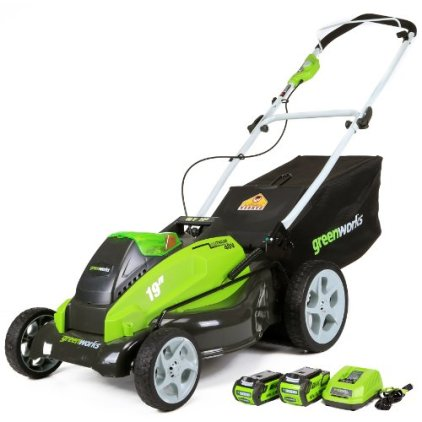 GreenWorks 40v 19 in cordless Lawn Mower review