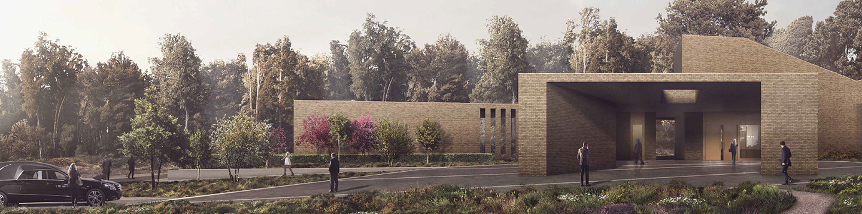 An artist's impression of Lea Fields Crematorium