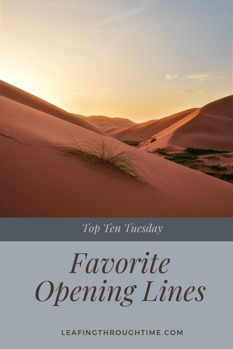 Top Ten Tuesday – Favorite Opening Lines
