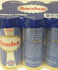 Bacchus Energy Drink for sale
