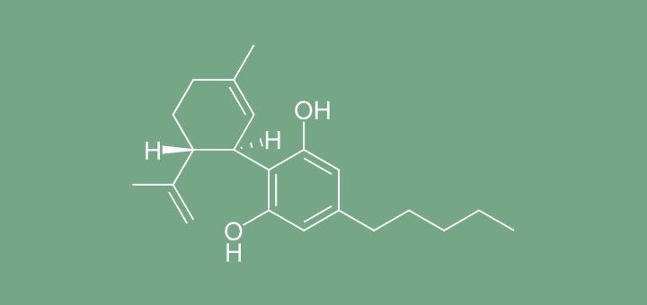Chemical structure of cannabidiol. (Photo:Wikimedia Commons)