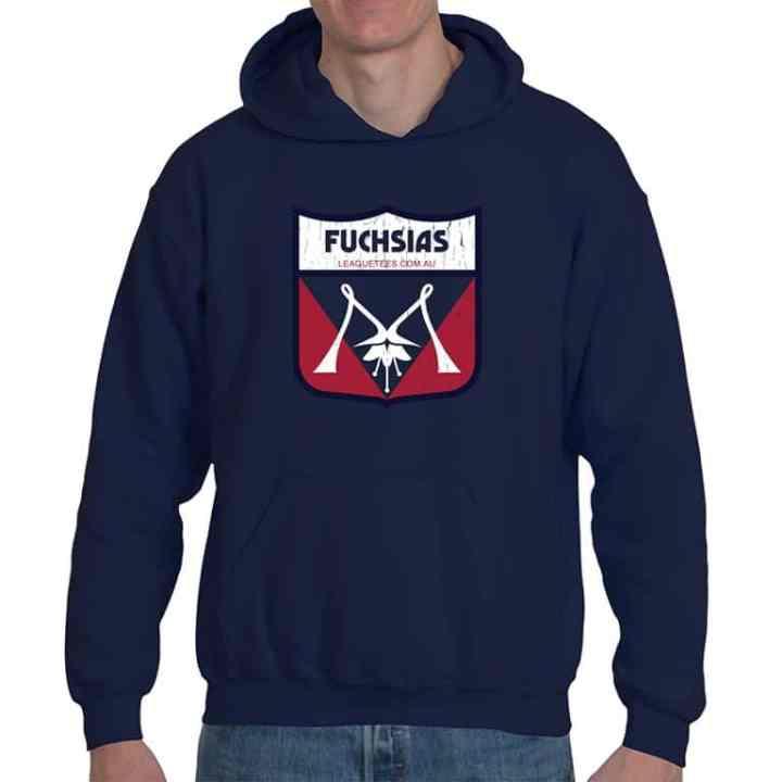 Fuchsias vintage football hoodie