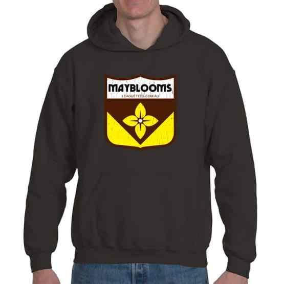 Mayblooms retro football hoodie
